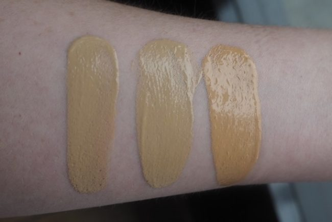 The Ordinary Colours Foundation Swatches - 2.0N, 2.0YG, 2.1P