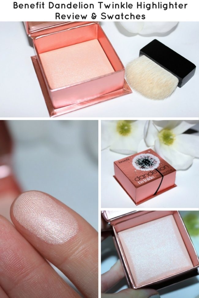 Check out the brand new Benefit Dandelion Twinkle Highlighter. It is beautiful! It's soft but not too subtle and glowy without looking fake! Swatches here!