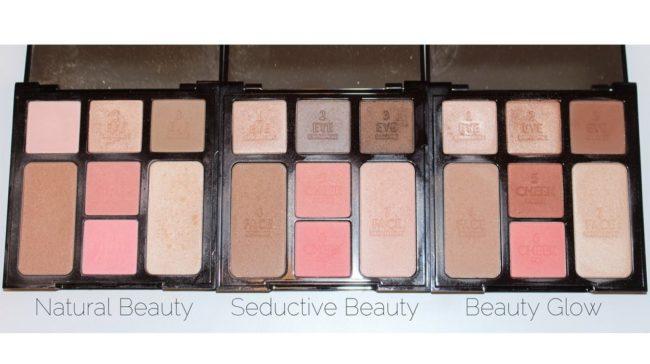 Charlotte Tilbury Instant Palette Comparison - Natural Beauty, Seductive Beauty, Beauty Glow