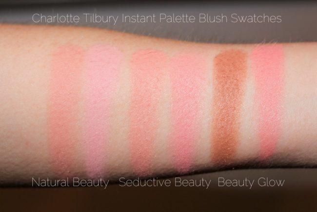 Charlotte Tilbury Instant Palette Comparison Swatches - Blush