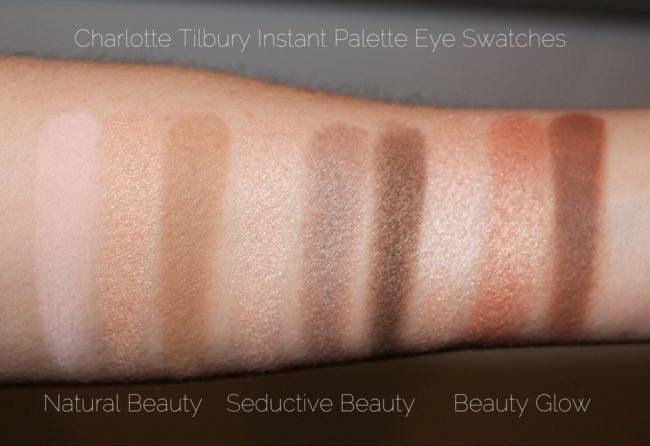 Charlotte Tilbury Instant Palette Comparison Swatches - Eyeshadows