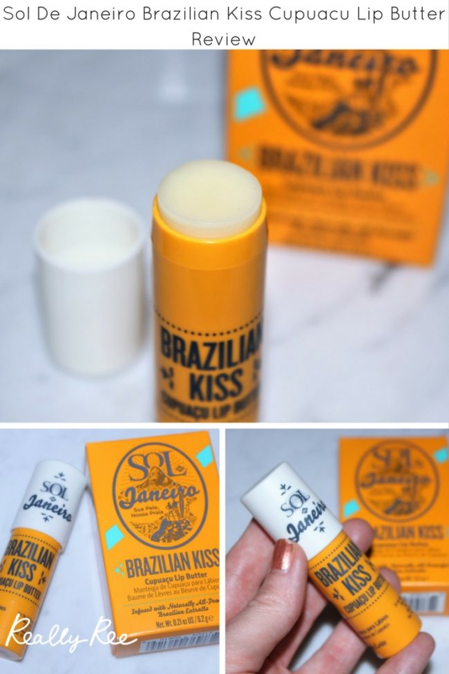 Here's a review of the Sol De Janeiro Brazilian Kiss Cupuacu Lip Butter. Does it live up to my beloved Bum Bum Cream?! I have the low down right here!