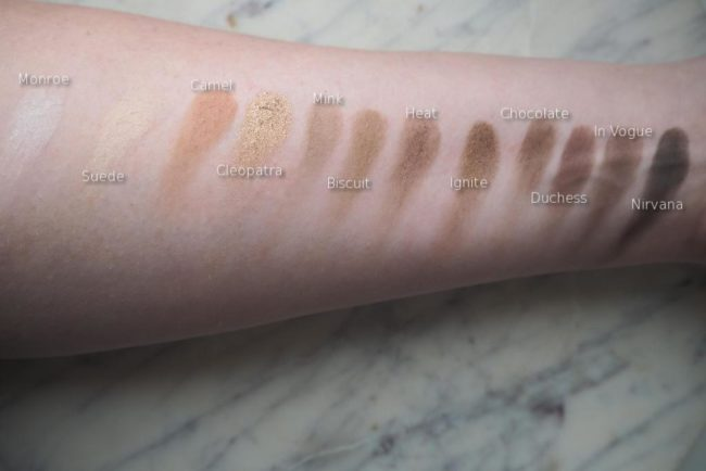 NIP+FAB Eyeshadow Palette Sculpted Swatches & Review