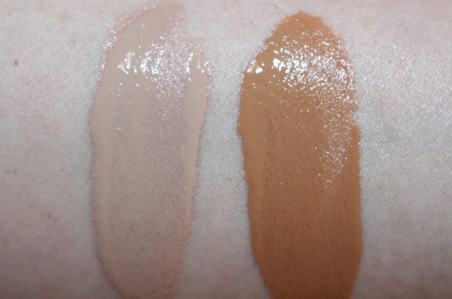 Estee Lauder Double Wear Nude Water Fresh Makeup SPF30 Swatches - Fresco & Bronze