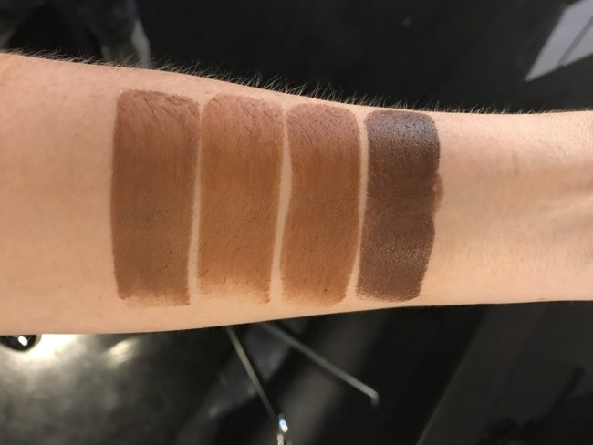 NARS Velvet Matte Foundation Stick Swatches - Dark