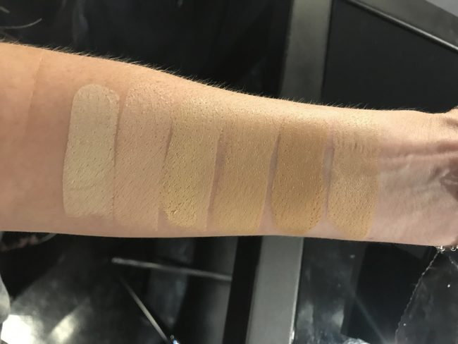 NARS Velvet Matte Foundation Stick Swatches - Light