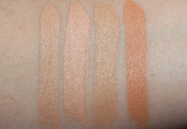 By Terry Stylo Expert Click Stick Concealer Swatches - Shades 4.5, 5, 8, 10.5