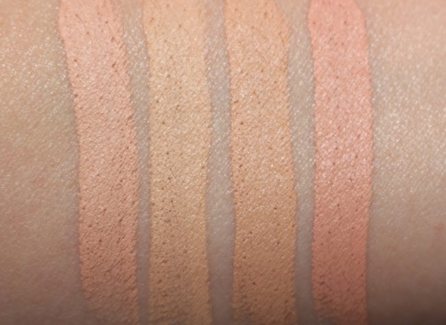 By Terry Stylo Expert Click Stick Concealer Swatches - Shades, 1, 2, 3, 4
