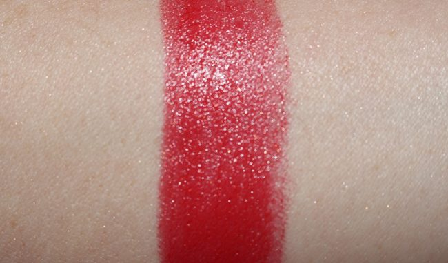 Guerlain Christmas 2017 - Rouge G Lipstick (Flaming Red Swatch)