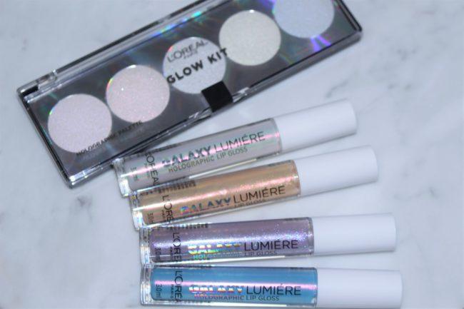 L'Oreal Paris Holographic Glow Kit & Lip Glosses