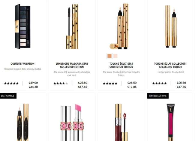 YSL Makeup - 30% Off Last Chance to Buy