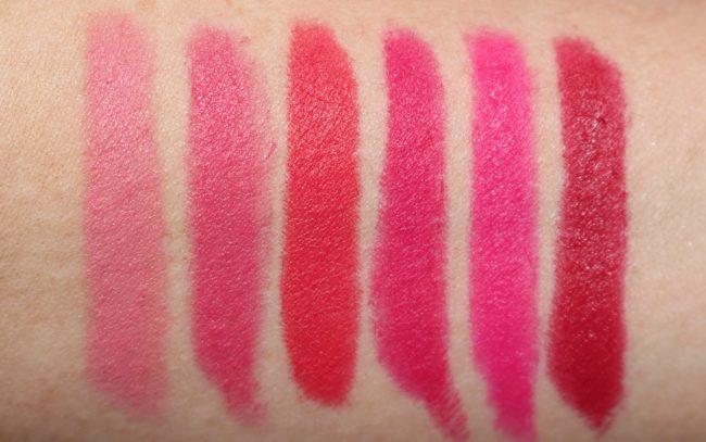 Laura Mercier Velour Extreme Matte Lipstick Swatches - Goals, Bring It, Clique, It Girl, Fab & Power