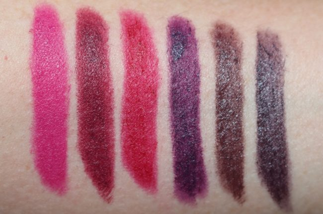 Laura Mercier Velour Extreme Matte Lipstick Swatches - Queen, Fatale, Hot, Boss, Dare & Extreme