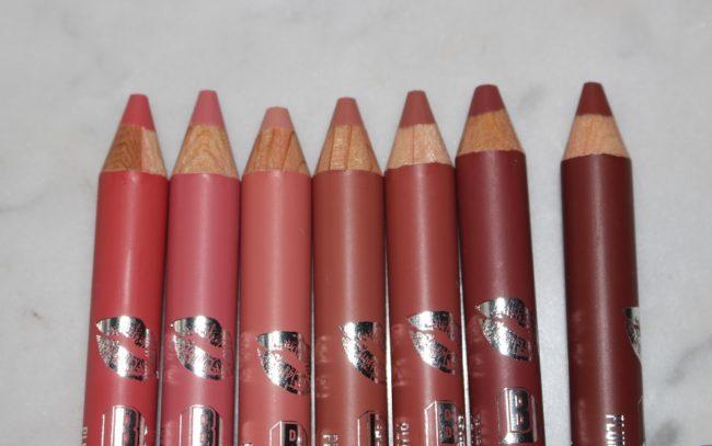 Buxom Plumpline Lip Liner Swatches - The Nudes