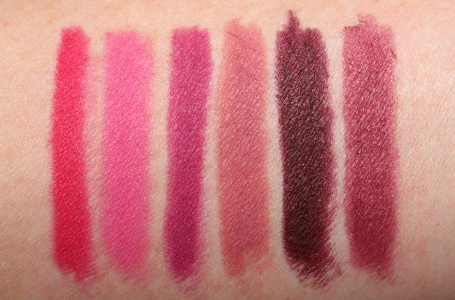 Buxom Plumpline Lip Liner Swatches - The Pinks & Berries
