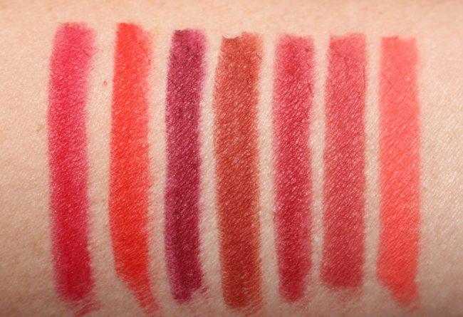 Buxom Plumpline Lip Liner Swatches - The Reds