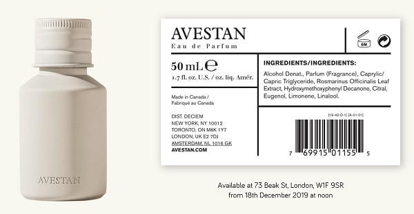 Avestan Eau de Parfum by Brandon Truaxe