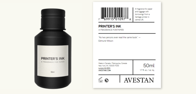 Avestan by Deciem Printers Ink Fragrance for Paper