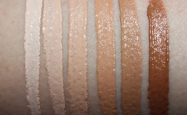 Barry M All Night Long Full Coverage Concealer Swatches