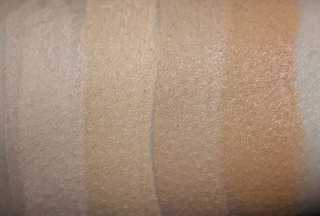 Barry M All Night Long Foundation Stick Swatches - Milk, Cashew, Oatmeal, Cookie