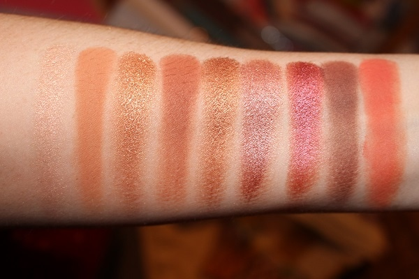 Desert Heat Eyeshadow Palette Swatches