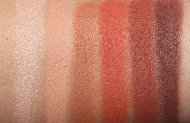 Urban Decay Naked Petite Heat Eyeshadow Palette Swatches