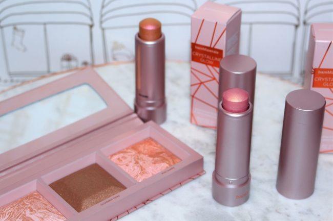Bare Minerals Crystalline Glow Bronzer & Highlighter Palette & Highlighter Sticks