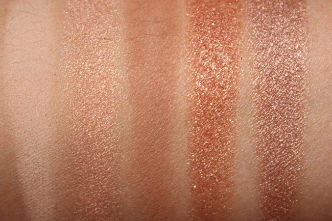 Bobbi Brown Nude on Nude Eye Palette Bronzed Nudes Edition Swatches