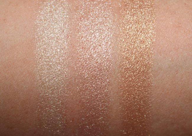 Charlotte Tilbury Bar of Gold Trio Palette Swatches