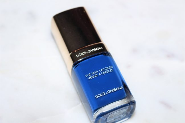 Dolce and Gabbana Fall 2018 Makeup - Nail Lacquer in Blue Angel