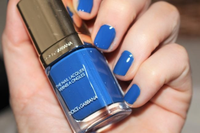 Dolce and Gabbana Fall 2018 Makeup - Nail Lacquer in Blue Angel Swatch
