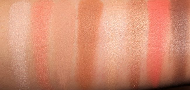 L'Oreal Paris Eyeshadow Palette Cherry My Cheri Swatches