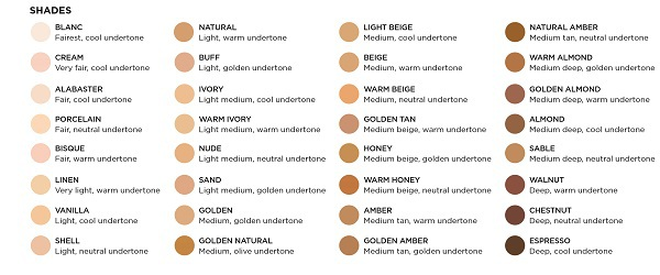 Hourglass Vanish Seamless Finish Liquid Foundation Shades