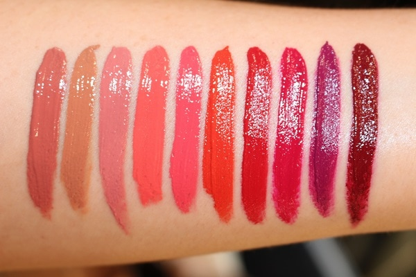 Tom Ford Lip Lacquer Luxe Vinyl Swatches