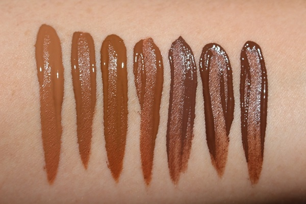 Ciate Extraordinary Foundation Swatches - Dark shades