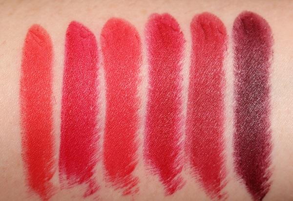 Kilian Le Rouge Parfum Lipstick - Matte Swatches