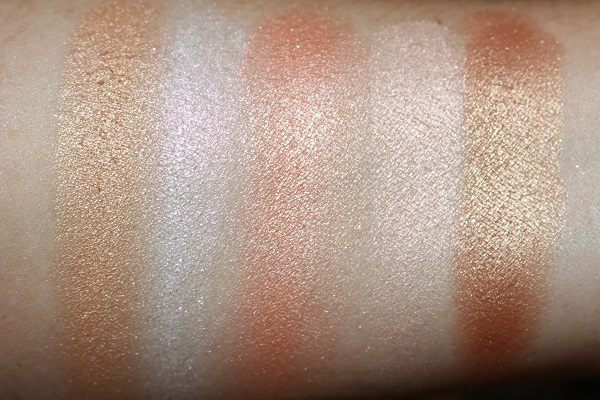 bareMinerals Endless Glow Highlighter Swatches