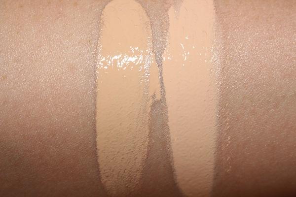 Zoeva Authentik Skin Natural Luminous Foundation Swatches - 070N & 080W