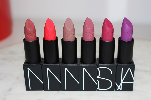 NARS 25 Iconic Lipstick - Matte: Erotic Adventure, Ravishing Red, Raw Love, Hot Kiss, Full Time Females, Candy Stripper