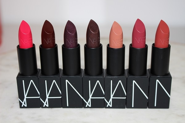 NARS 25 Iconic Lipstick - Satin: Damage Control, Impulse, Hot Channel, Heroine Red, Rosecliff, Afghan Red, Banned Red