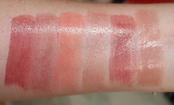 Swatches - Sheer: Gipsy, Falballa, Barbarella, Sexual Healing, Dolce Vita, Cruising