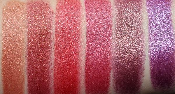 NARS Studio 54 Disco Dust Lipstick Swatches