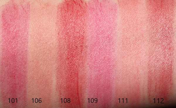 YSL Slim Sheer Matte Lipstick Swatches